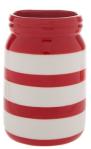 red stripe mason jar