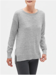 flecked sweater gray